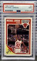🔥1989 Fleer Basketball Michael Jordan #21 PSA 9 MINT 4th Year Card🐐GOAT