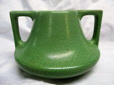 Haeger Potteries Art and Crafts Eve Vase With Geranium Leaf Green Glaze 1930's