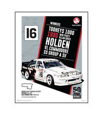 """HOLDEN COMMODORE VL POSTER - PERCY GRICE 1990 BATHURST - 50 x 40 cm 20"""" x 16"""""""