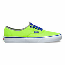 Vans Authentic Brite Neon Green Blue Women's 5.5 Kids 4 Skate Shoes New NIB