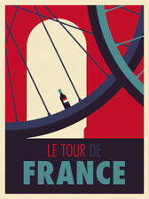 Tour de France by Spencer Wilson Art Print Poster Wine Bike Cycle Cycling 13x19