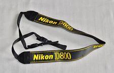 Nikon D800 noir/jaune authentique épaule sangle de cou (brodé) pour DSLR D800