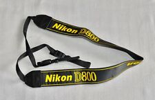 Nikon D800 Negro/Amarillo Genuino Cuello Correa de hombro (bordado) Para DSLR D800