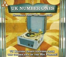 UK NUMBER ONES 1958 - 1962 NEW 3 CDSET 75 GREAT HITS FROM THE 50S 60S BEST OF