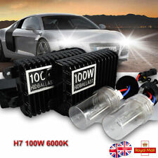 H7 100W Car Xenon Conversion KIT HID Headlight Lamp Slim Ballasts + Bulbs 6000K