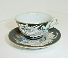 Hand Painted Vintage Cap\u2019n Patch Small Teacup and Saucer