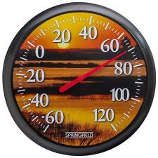 New listing Decorative Wall Large Indoor Outdoor Round Sunset Home Garden Patio Thermometer