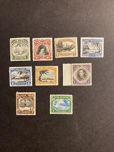 Cook Islands  George VI Definitive Set Mint Lightly Hinged Or Better