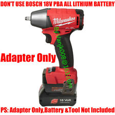 1x Adapter Works On BOSCH 18V BAT609/618 Li-ION Battery For Milwaukee M18 Tools