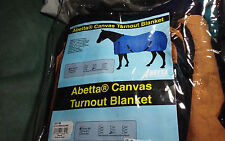 "HORSE Abetta Turn Out WINTER Blanket Canvas ""NEW"" 81"""