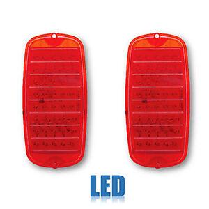 60 61 62 63 64 65 66 Chevy GMC Fleetside Truck Red LED Tail Light Lamp Lens PAIR
