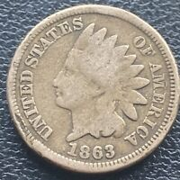 1863 Indian Head Cent 1c One Penny Circulated #23629