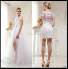 Detachable Two Pieces Wedding Dresses A-line Tulle Wedding Dress Bridal Gown