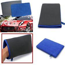 Nouveau Bleu & Gris Microfibre Voiture Nettoyage éponge fenêtre Wash Mitt polissage Pads