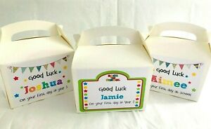 Personalised First Day of School Gift Box Bag Back To School Good Luck Kids Gift
