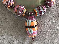 """Lampwork Artisan JC Herrell Handmade """"Friend of Fire"""" Bead Set"""