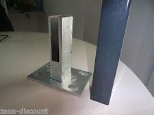 10 Stück Fußplatten Pfostenadapter Zaun Bodenplatte Doppelstabmatten Dübelplatte
