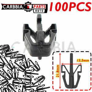 100PCS Black Nylon Grille Mounting Clips   NEW Retainer for Auveco A17195 Toyota