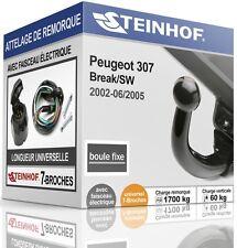 ATTELAGE fixe PEUGEOT 307 Break/SW 2002-2005 + FAISC.UNIV.7-broches COMPLET