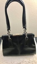 Liz Claiborne 100% Polyvinyl Black Shoulder Bag Medium Sized