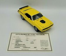 1970 Plymouth Cuda 440 Coupe by Danbury Mint 1:24 diecast w/ title and box