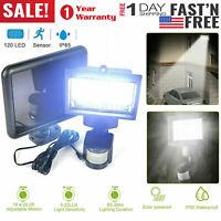 120 LED Solar Wall light PIR Motion Sensor Security Flood Lamp IP65 Waterproof