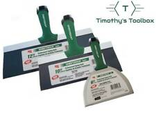Usg Sheetrock Pro Drywall Taping Knife Set 6 10 12 Blue Steel Matrix Style Grip