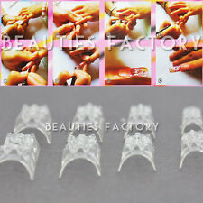 Authentic Mosaic Acrylic UV Gel French Nail Art Form Tips 60pcs #513C