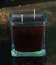 90hr Double Wick ESPRESSO COFFEE Eco Soy SQUARE QUALITY GLASS CANDLE Brown Gifts