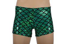 Mens L, Green Holo Nylon Lycra Swim Shorts Bathers Trunks Swimwear Swimsuit