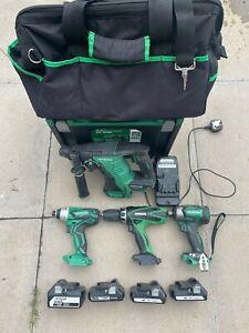 Hitachi / Hikoki 18v set of drill, impacts and SDS drill