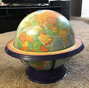 "George F.Cram Co World Political Globe 16"" Diameter"
