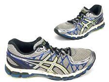 ASICS Gel Kayano 20 Running Shoes Men's Size 9 T3N2N-9193 Silver/Blue