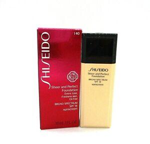Shiseido Sheer And Perfect Foundation SPF 18 ~ I40 Natural Fair Ivory ~ 30 ml