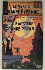BLAKE ET MORTIMER ** LE MYSTERE DE LA GRANDE PYRAMIDE TOME 1 + 2 ** JACOBS