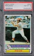 1979 Topps #650  PETE ROSE - REDS - Centered - NM-MT  PSA 8