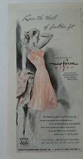 1945 Mujer Bur-Mil Newform Rosa Deslizarse Vintage Lencería Moda Anuncio