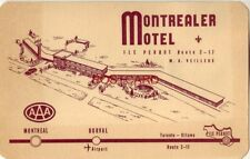 dated 1954 THE MONTREALER MOTEL Hwys. 17 & 2 near MONTREAL, QUE Owner A Veilleux