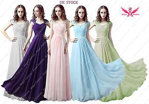 Moden Design Chiffon Capsleeve Sweeteart Evening Formal Prom Bridesmaid Dress