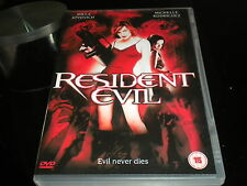 Resident Evil - DVD - Region 2 PAL - 2004 - Rating 15 - Milla Jovovich