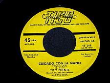 "TITO PUENTE ""Cuidado Con La Mano"" 45 : Tico 268 @ 1960s Latin MAMBO"