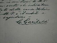 GARIBALDI CACCIATORI DELLE ALPI BERGAMO/LOVERE  LETTERA AL RE V.EMANUELEII COPY