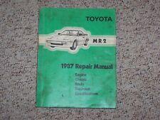 1987 Toytoa MR2 M R 2 Factory OEM Shop Service Repair Manual 1.6L I4