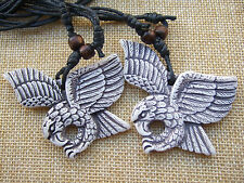 1 Pcs Tribal Yak Bone Resin Carve Totem Awing Imposing Eagle Necklace Pendants