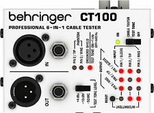 New Behringer Cable Tester CT100 Free Shipping! Authorized Dealer! WARRANTY!