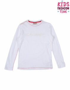 NAPAPIJRI T-Shirt Top Size 10Y / 140CM Sequined Logo Long Sleeve
