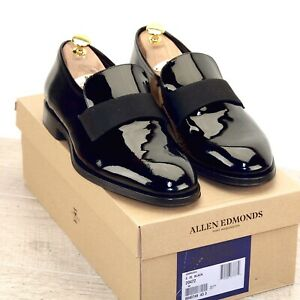 * NIB * $425 Allen Edmonds AMBROSIO 8 EEE Wide Patent Leather Tuxedo * new Trees