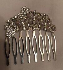 Monsoon Accessorize Silver Hair Slide Grip Faux Pearl Diamonte Butterfly Detail