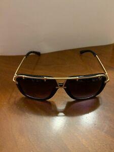 Cazal Sunglasses 638 Black Gold Gradient Lenses Preowned 58-18-135