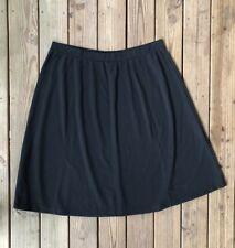 637da5d9e7 Woman Within Plus Size 3X Black Knit Skirt Elastic Waist Paneled A Line Midi